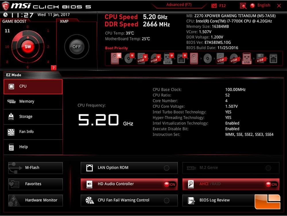 Photo of Las placas base MSI Z270 overclockean el Core i7-7700K de forma automática hasta 5.2 GHz
