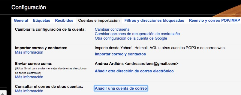 anadir cuenta correo electronico gmail