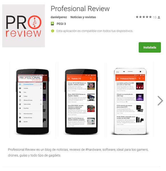 Photo of APP oficial de Profesional Review en Android y la tienda de Windows