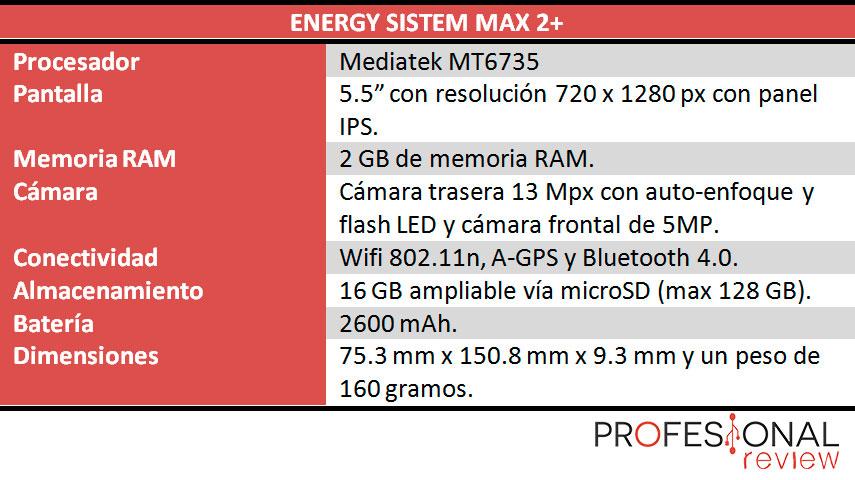 Enery Phone Max 2+ caracteritiscas