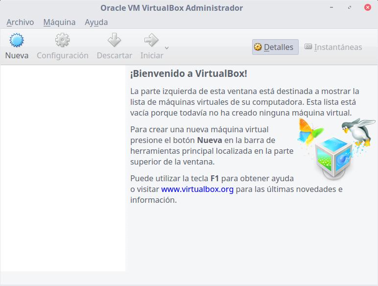 instalar y configurar VirtualBox en Linux