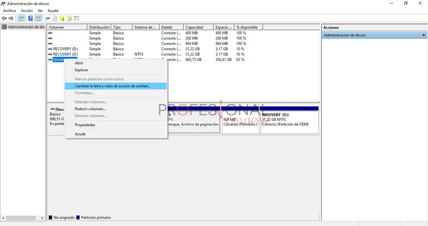 Cómo reconocer disco duro en Windows