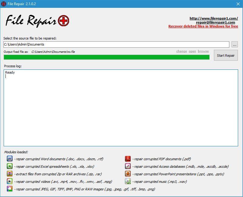 reparar archivos
