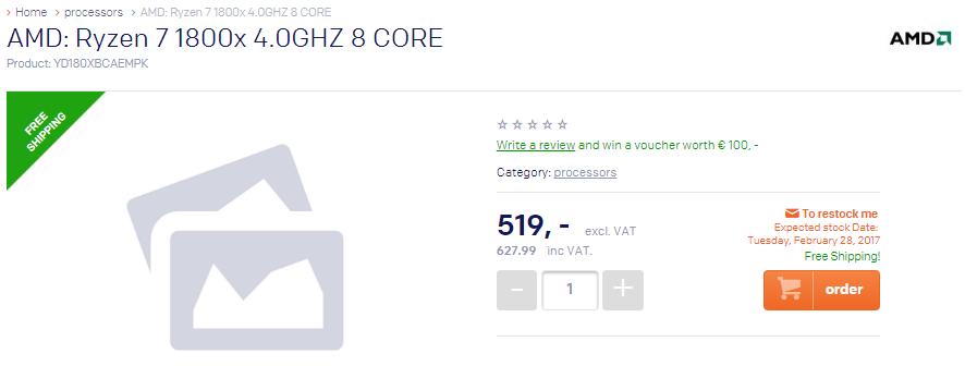 AMD Ryzen precio Europa