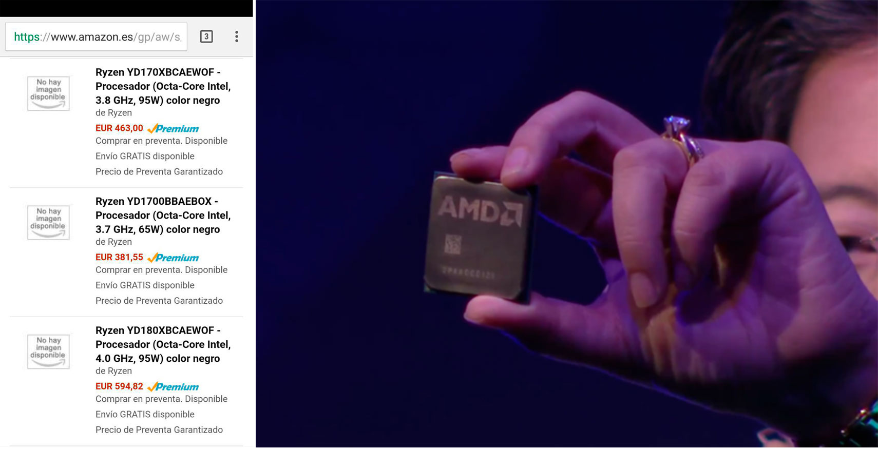 Photo of AMD Ryzen 7 1700 / 1700X / 1800 listados en Amazon España