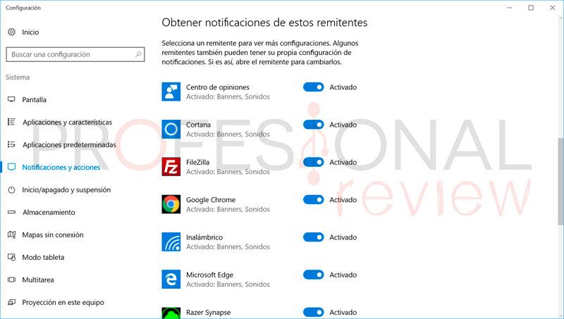 Cómo desactivar el sonido de las notificaciones en Windows 10