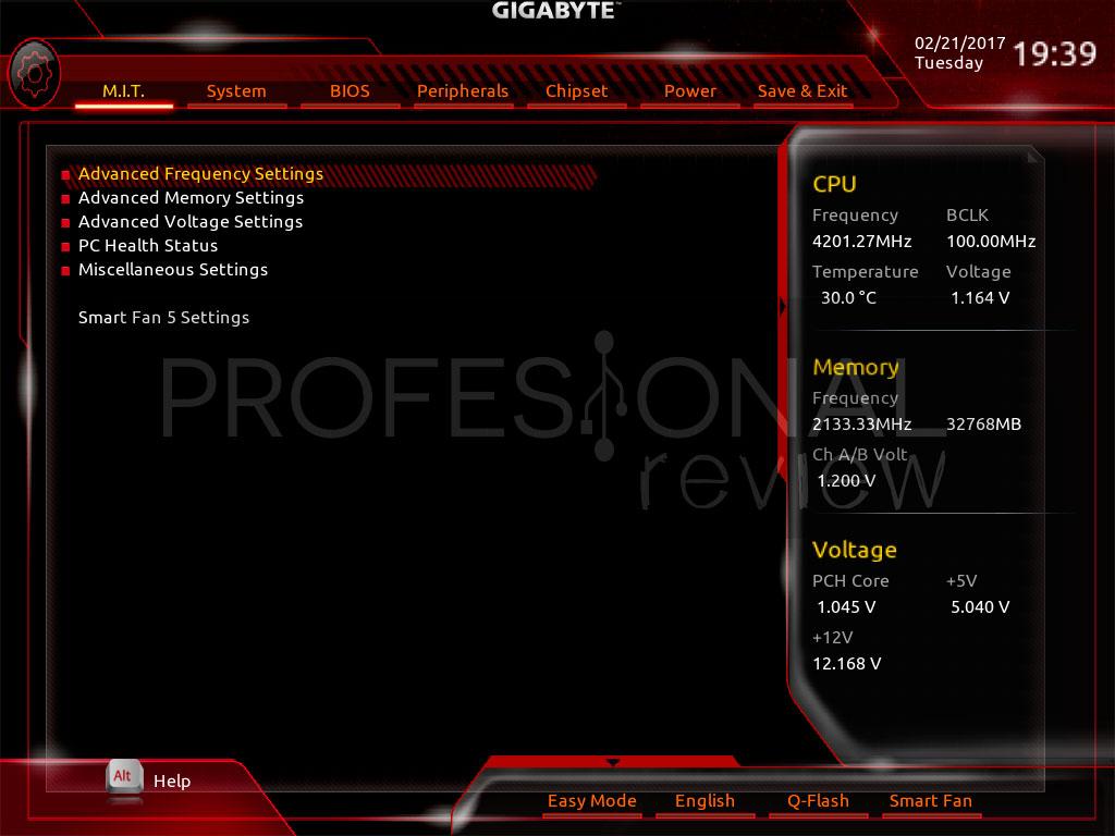 Gigabyte Aorus Z270X Gaming 8 bios