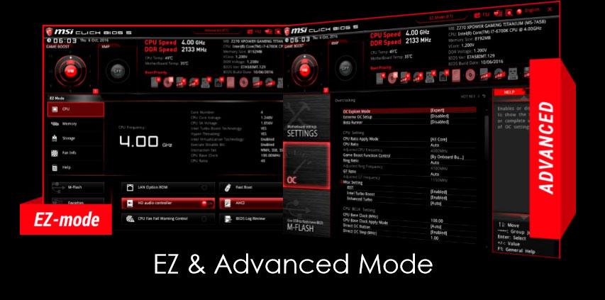 MSI Z270 XPOWER Gaming Titanium BIOS