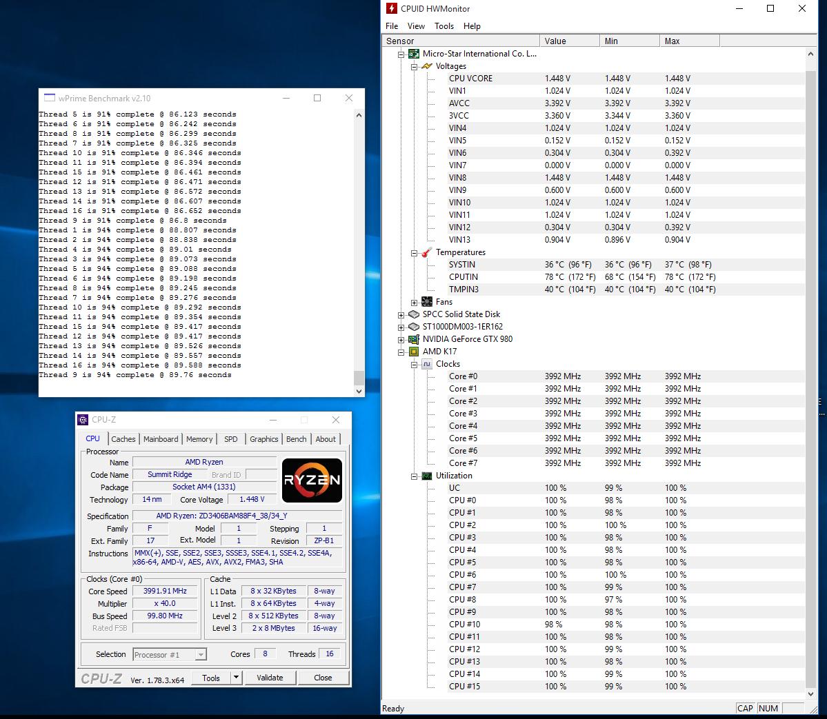 Photo of AMD Ryzen 7 1700X análisis externo