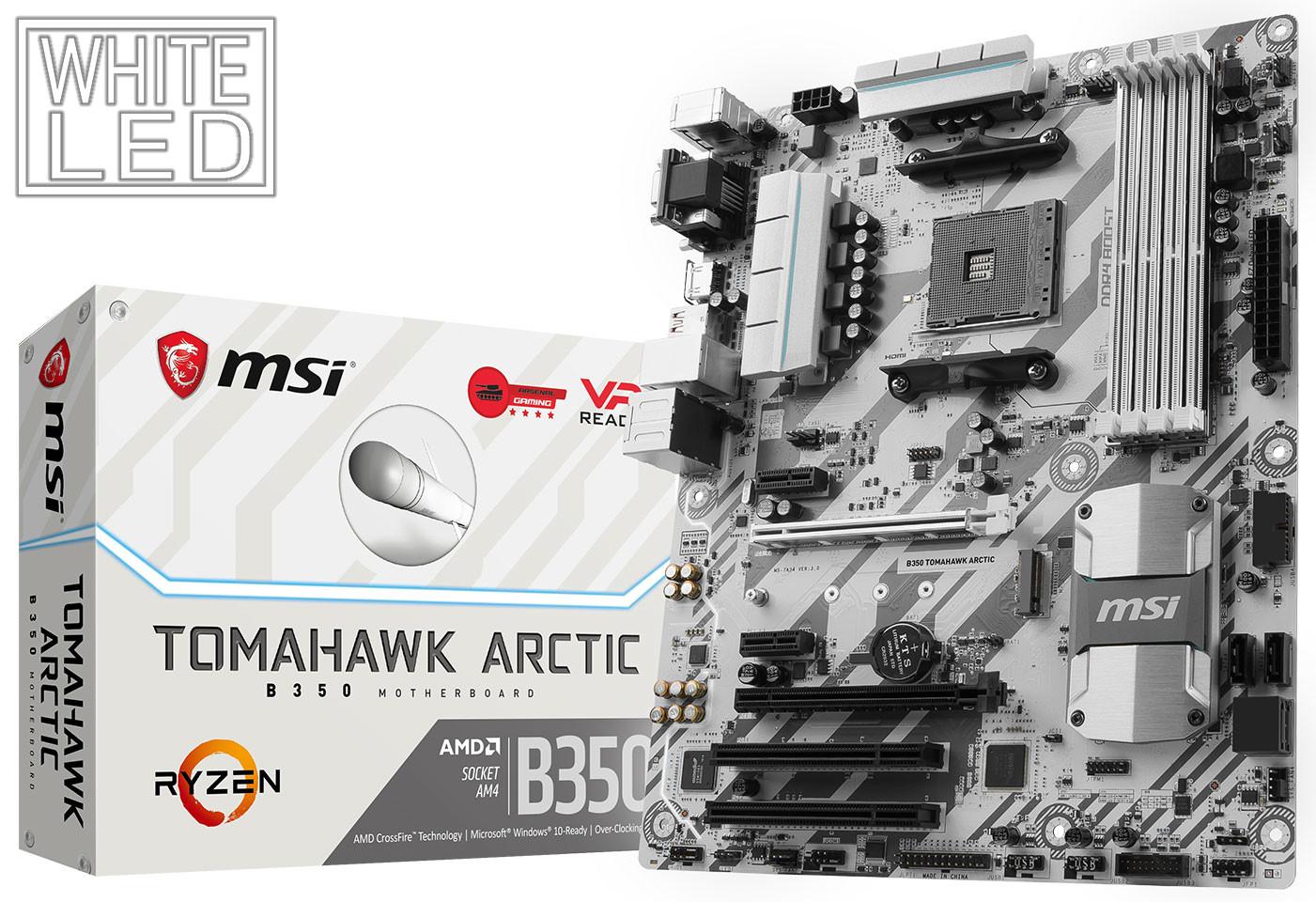 Photo of MSI también anuncia sus nuevas placas base B350 Tomahawk Arctic y B350M Mortar Arctic