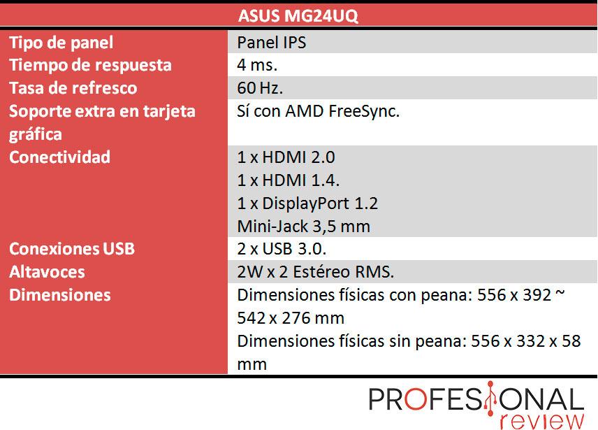 Asus MG24UQ características