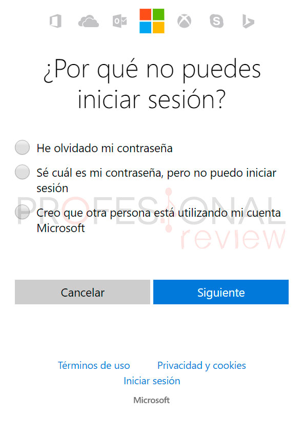 cambiar la contraseña olvidada Windows 10