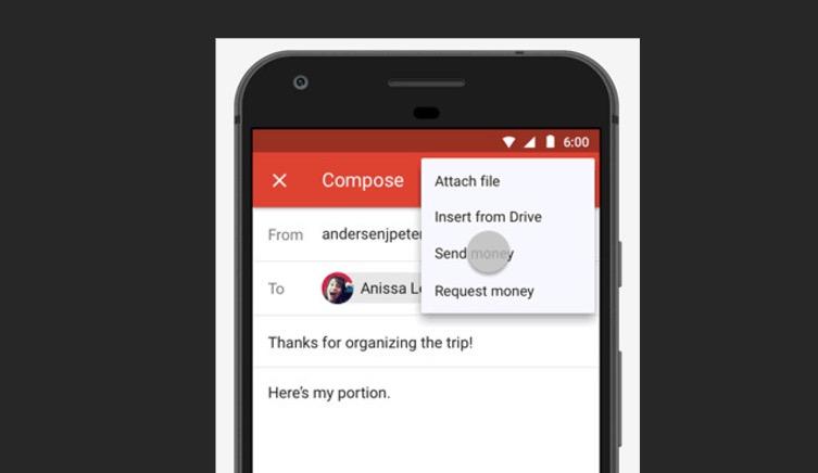 enviar dinero gmail