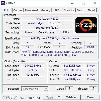 AMD Ryzen 7 1700 overclock Gigabyte
