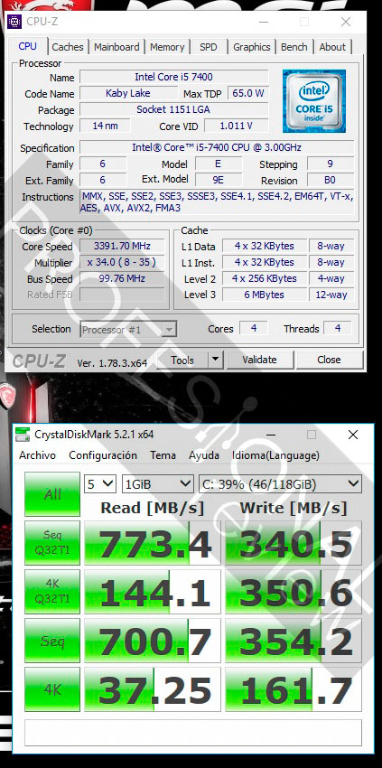 MSI Nightblade Mi3 test ssd