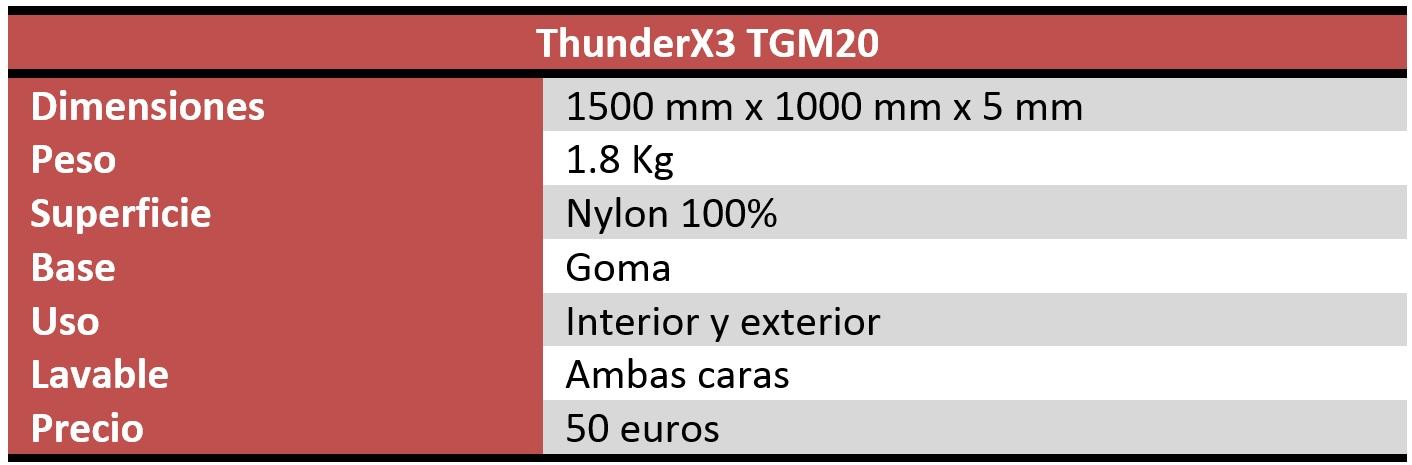 ThunderX3 TGM20 caracteristicas