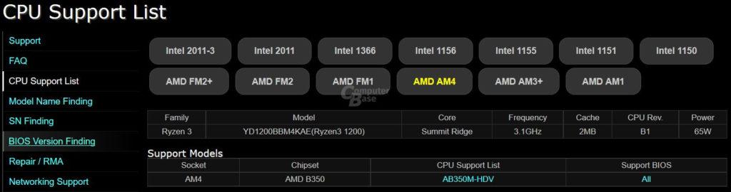 AMD Ryzen 3 1200 ve sus especificaciones filtradas