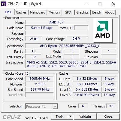 AMD Ryzen 5 1600X alcanza los 5.9 GHz
