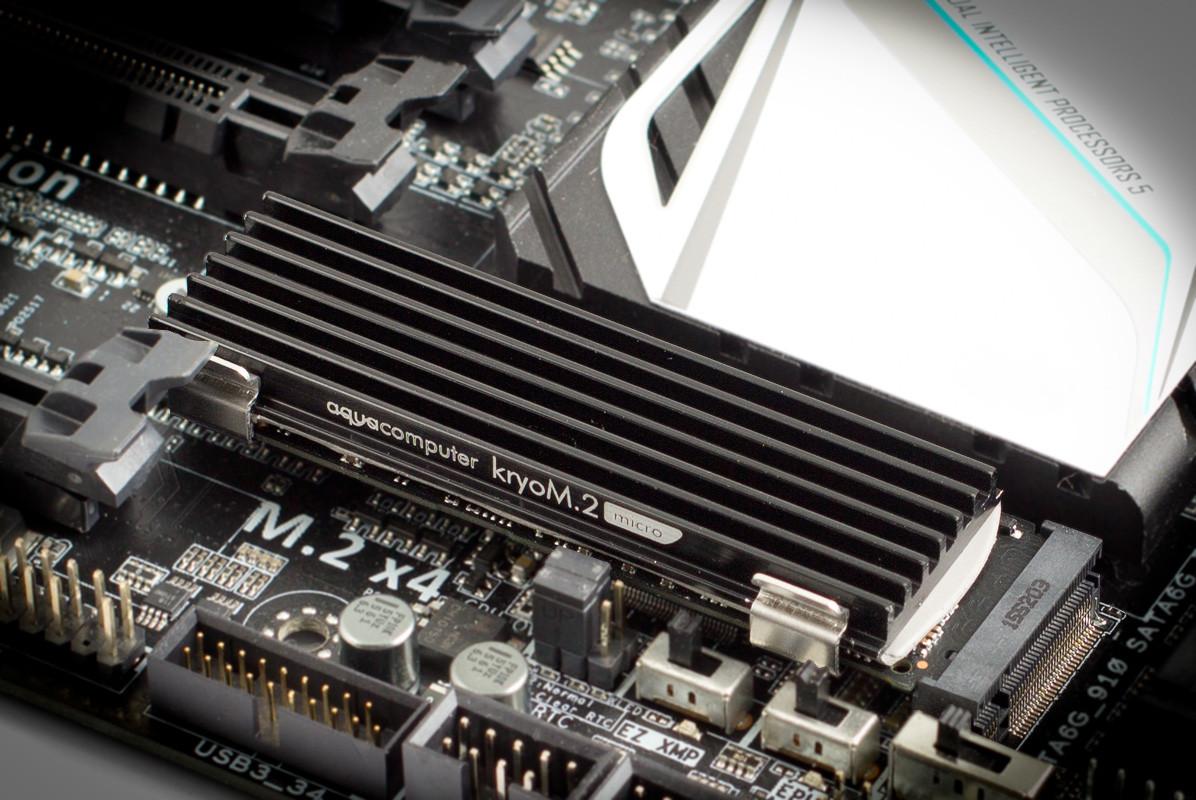 Photo of Aqua Computers kryoM.2, disipador para tu disco duro M.2