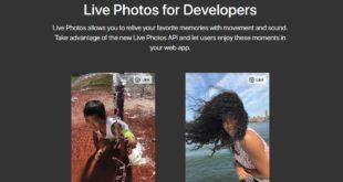 Apple abre la api Live Photos