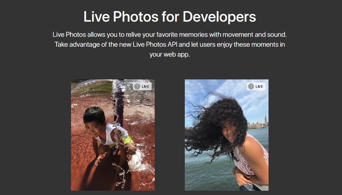Apple abre la api Live Photos