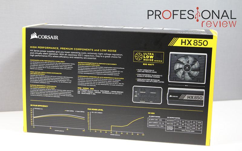 Corsair HX850 analisis