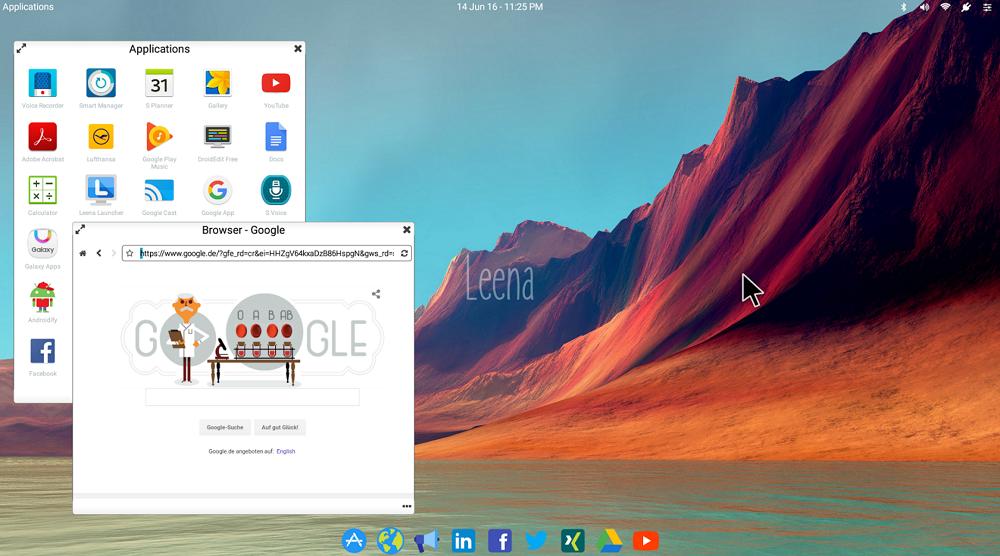 Leena Desktop UI