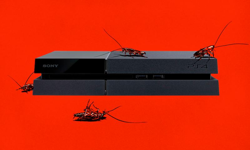 Cucarachas y PS4