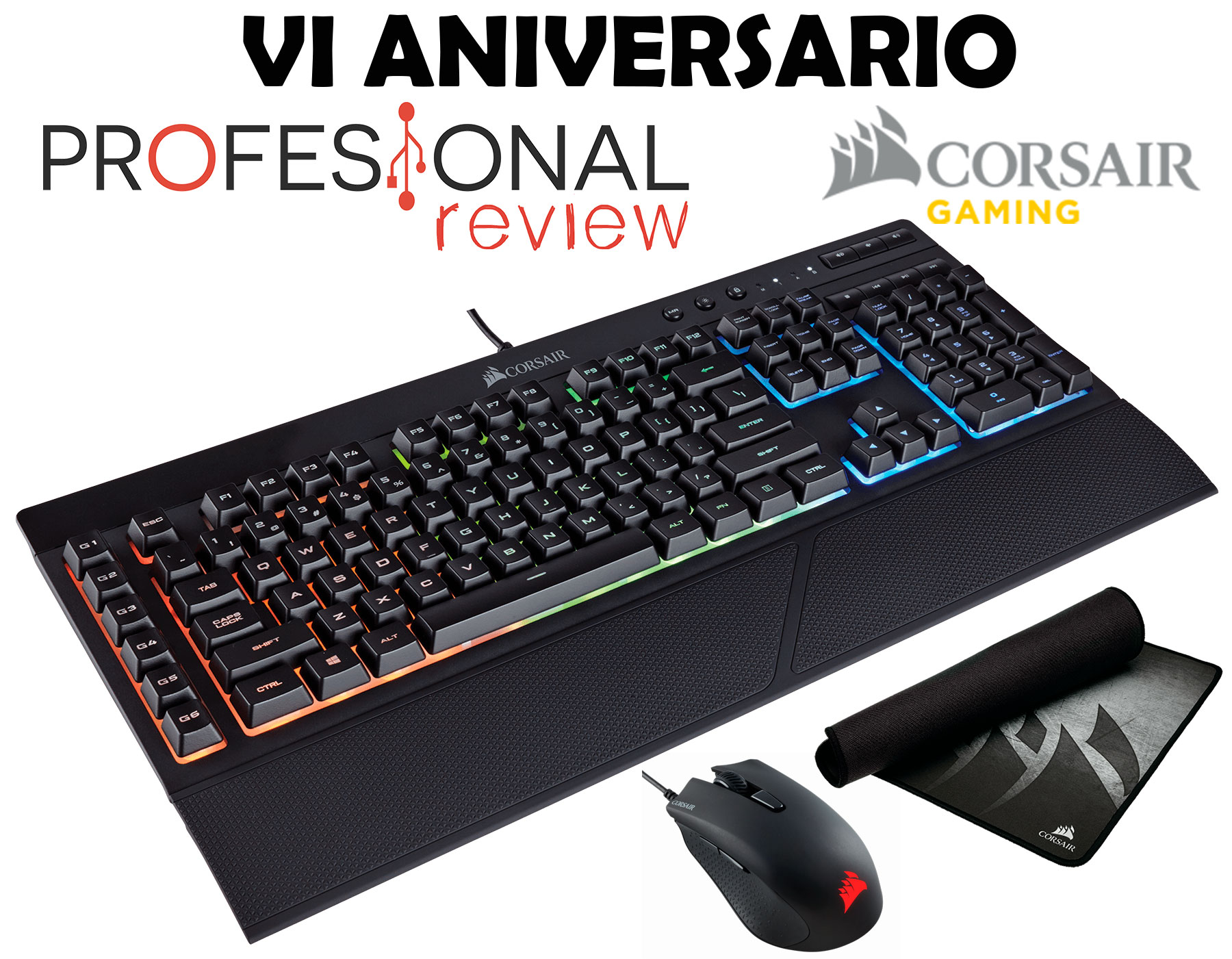 Photo of ¡¡Sorteo!! Teclado Corsair K55 RGB + Harpoon + MM300
