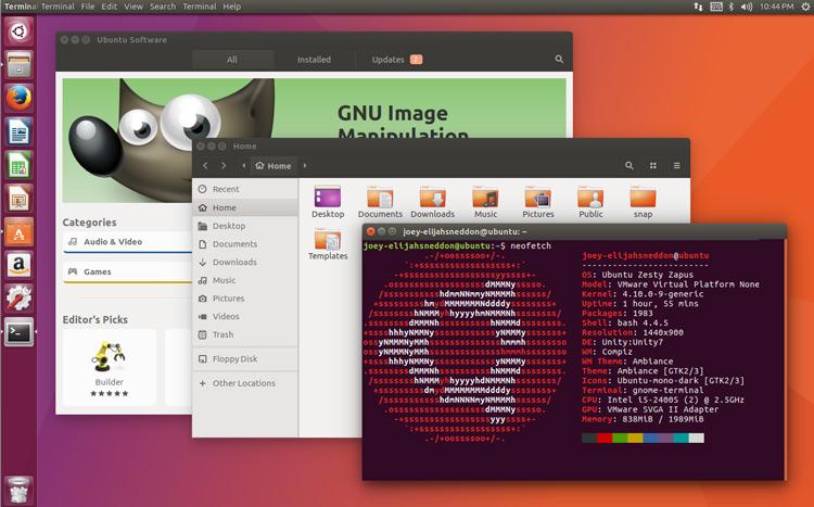 Escritorio de Ubuntu 17.04