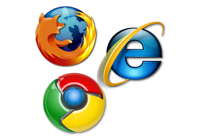 Internet Explorer - Chrome - Firefox