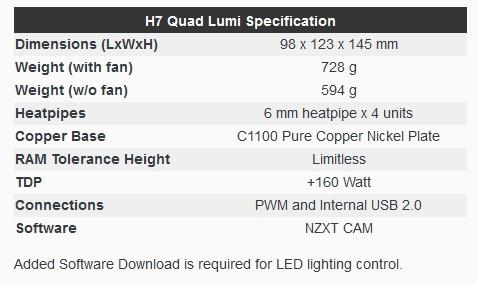 Cryorig H7 Quad Lumi RGB
