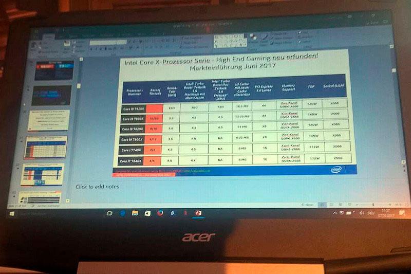 Intel Core-X i9 e i7