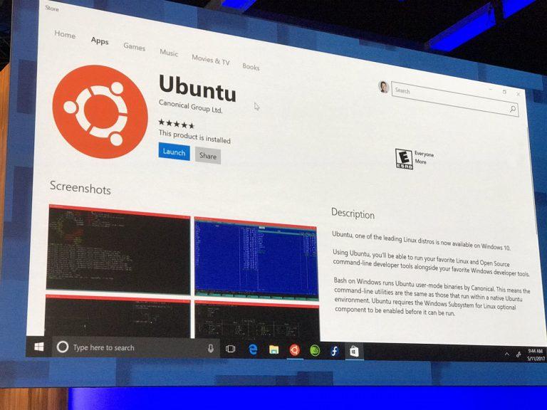 Linux llega a la Windows 10 Store