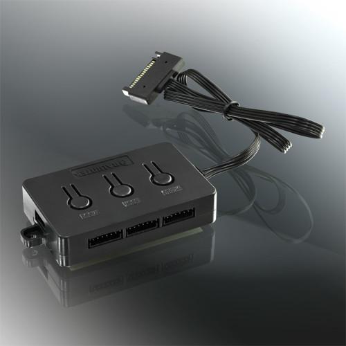 Raijintek Aura 12 RGB, ventiladores RGB