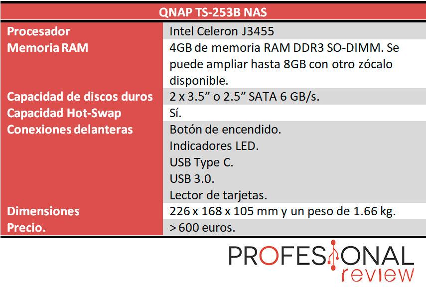 QNAP TS-253B caracteristicas