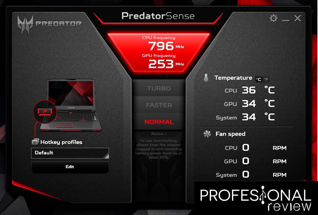 Acer PredatorSense