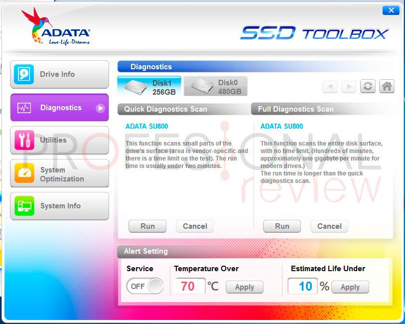 ADATA Ultimate SU800 software