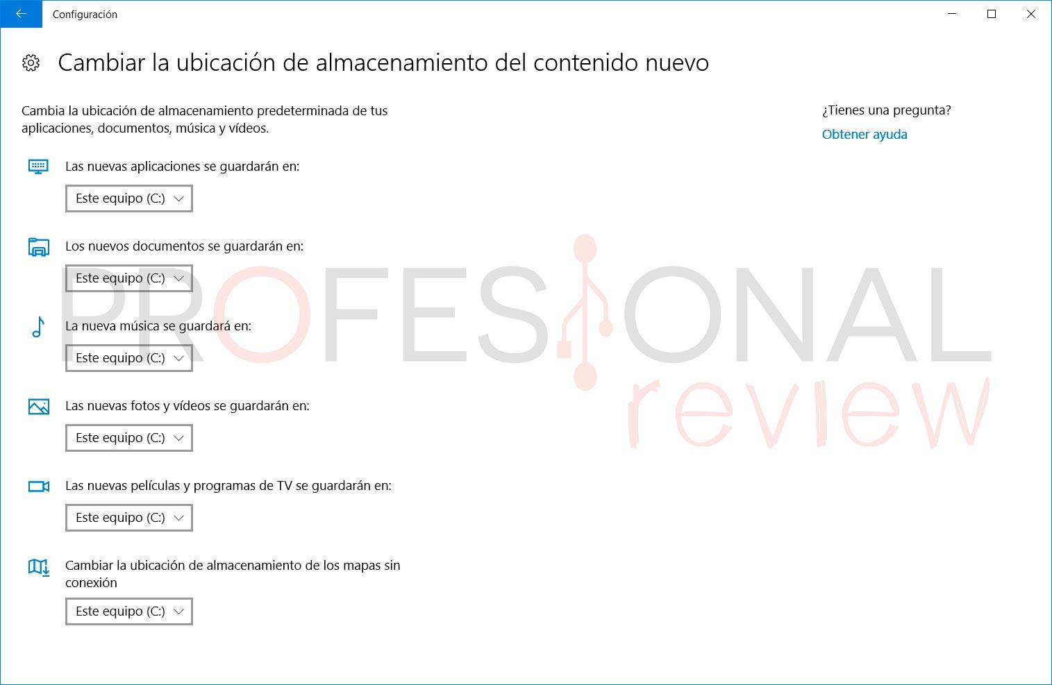 Cómo cambiar la unidad de almacenamiento predeterminada en Windows 10
