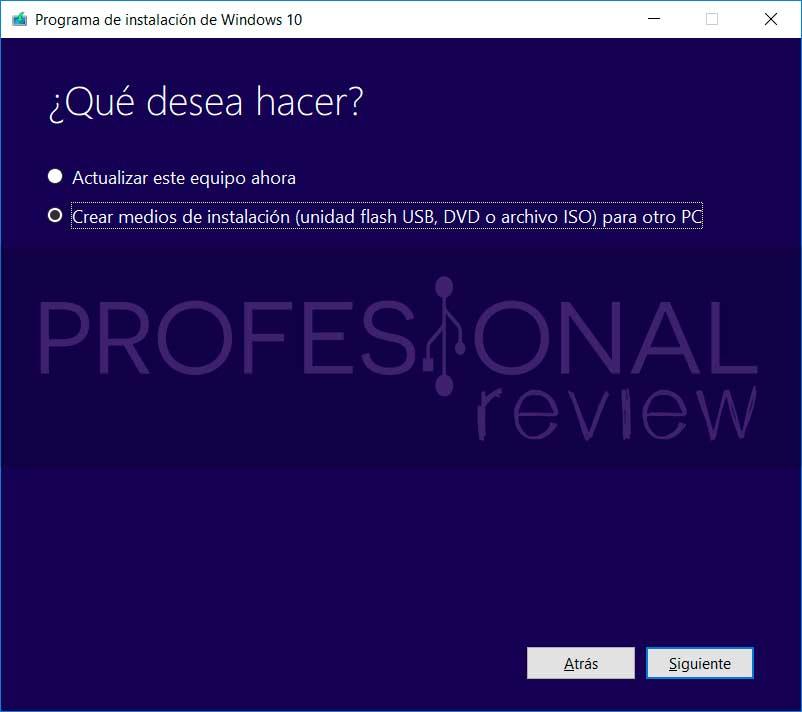 Cómo descargar una ISO de Windows 10