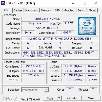 Core i7-7740K alcanza los 7,5 GHz con ayuda del helio