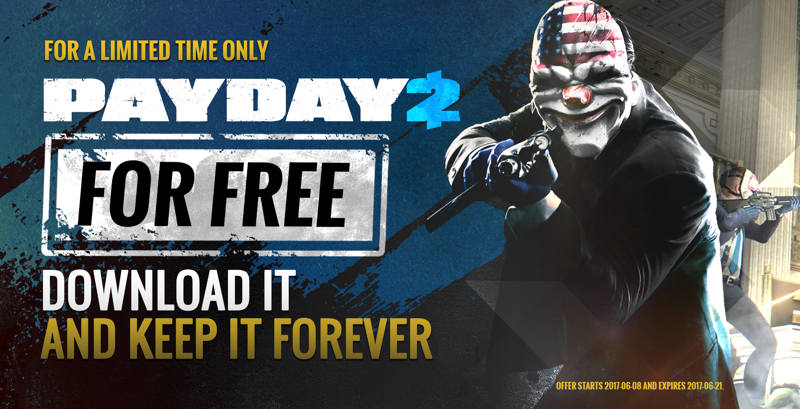 Descarga Payday 2 gratis en Steam