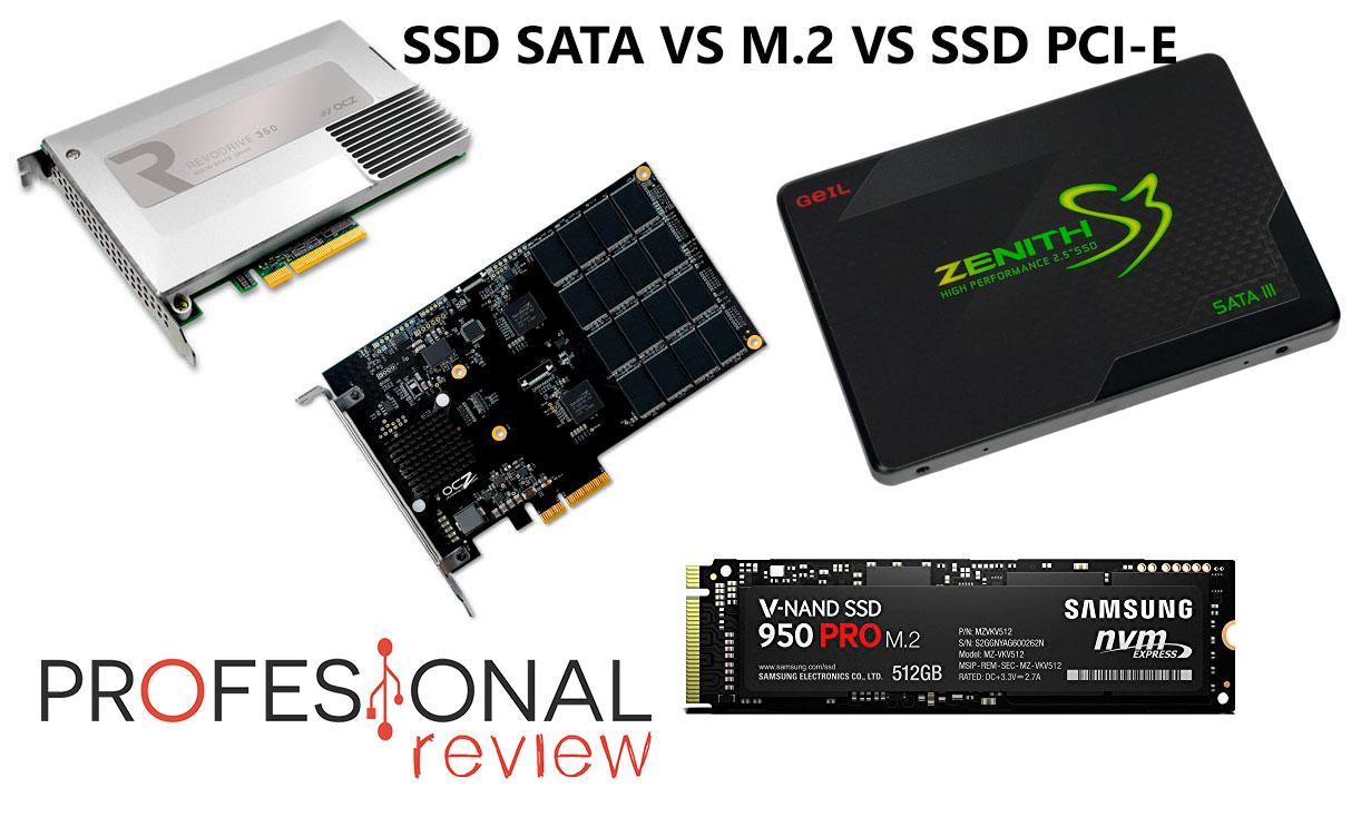 Disco SSD SATA vs M.2 vs ssd PCI-Express