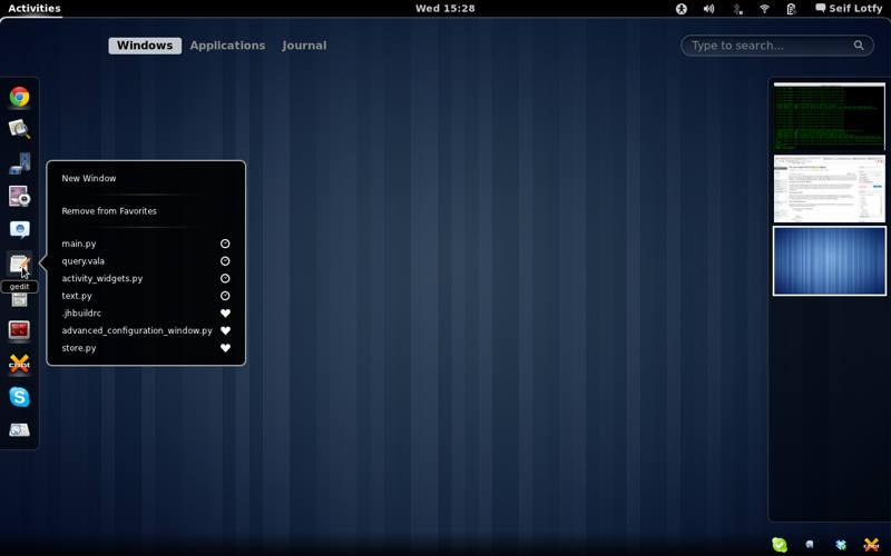 Ubuntu ya trabaja sobre Gnome Shell