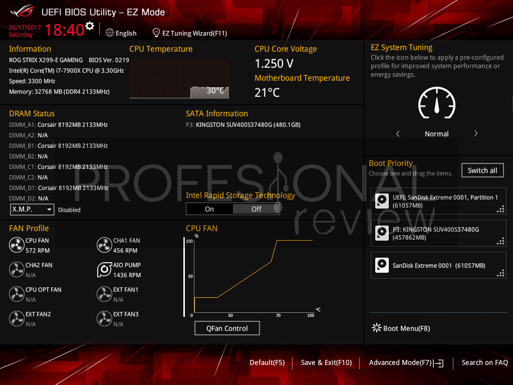 Asus Strix X299-E bios