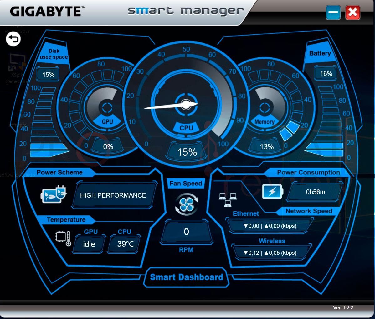 Gigabyte Aero 15 software
