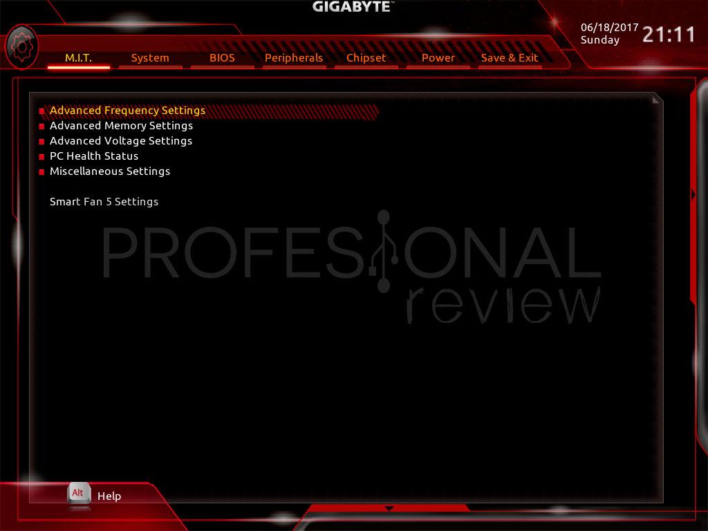 Gigabyte Aorus X299 Gaming 7 BIOS