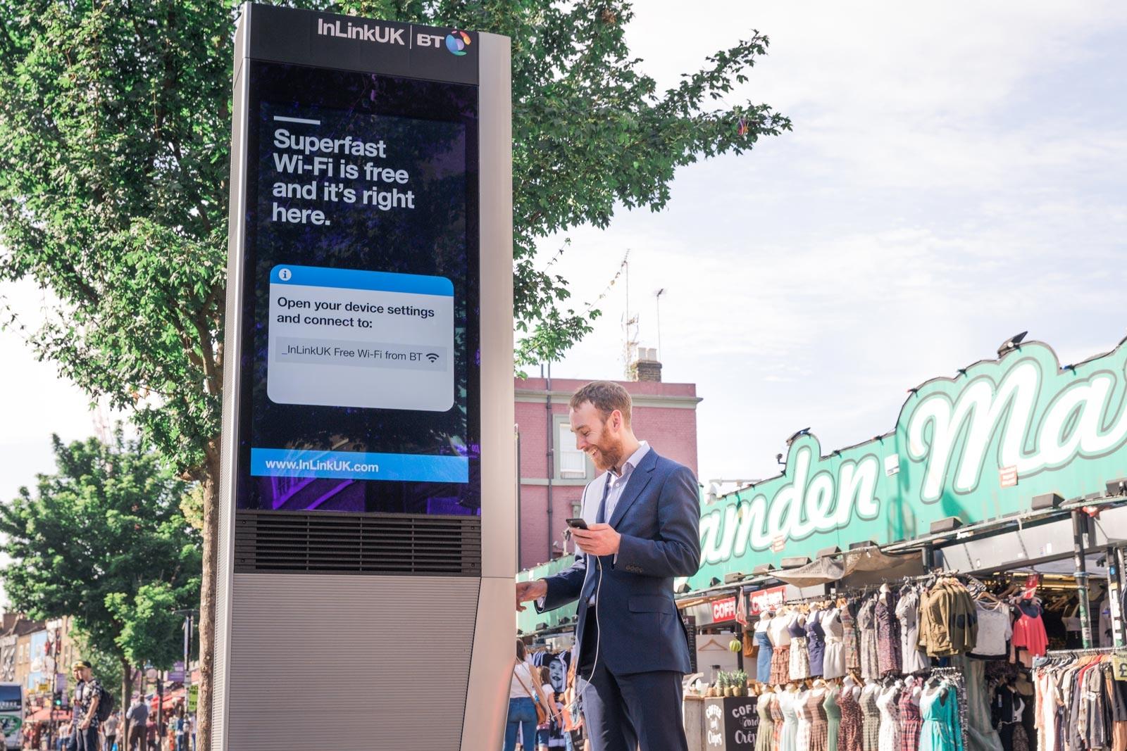 Londres se convierte en la segunda ciudad del mundo en ofrecer kioscos de wi-fi gratis