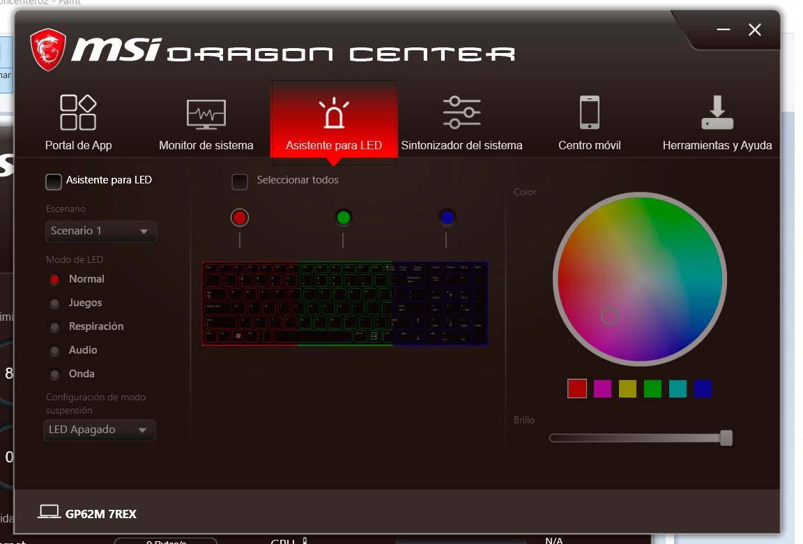 MSI GP62 7REX software