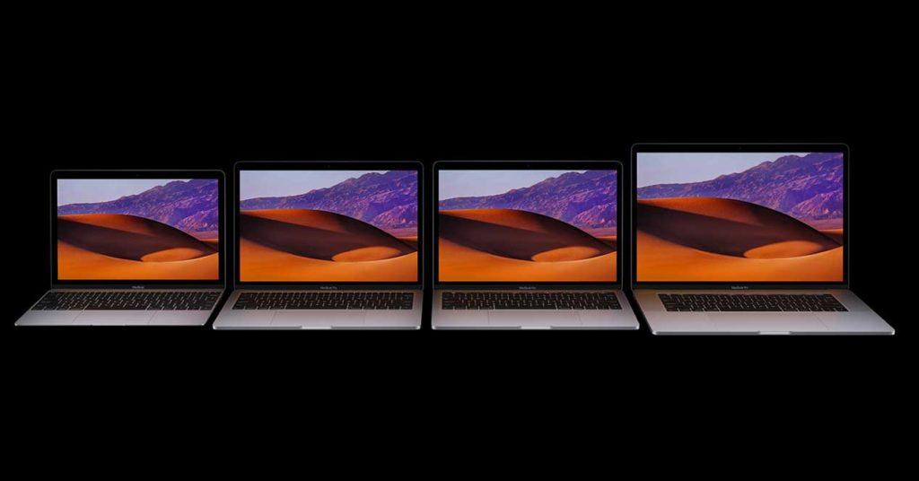 MacBook Pro 2017, mismo diseño, mejores componentes
